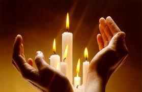 kaarsen met handen