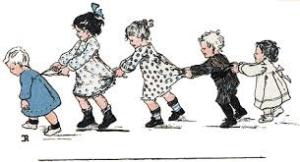kinderen in rij
