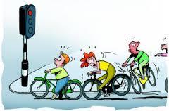 fietsende kinderen