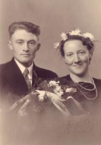Mama en papa trouwfotokopie