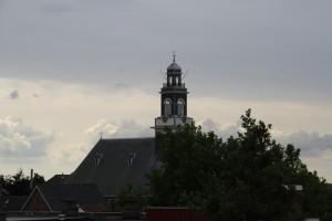 Lekkerkerk kerk vanaf dak Boomgaard