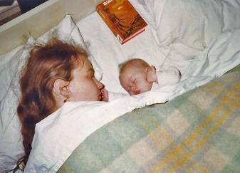 41 slapen bij mam a