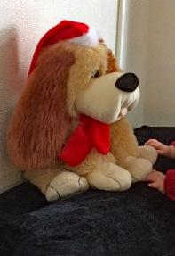 Yenthe kerstmis hond