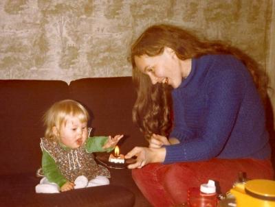 november 1981 Mooi mama zo'n kaarsje