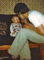 september 1981 Eten bij papa spreeuwtje 1