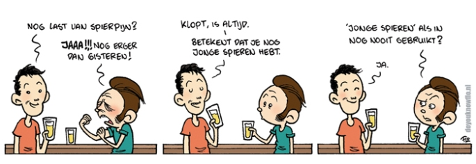 Cartoon-spierpijn