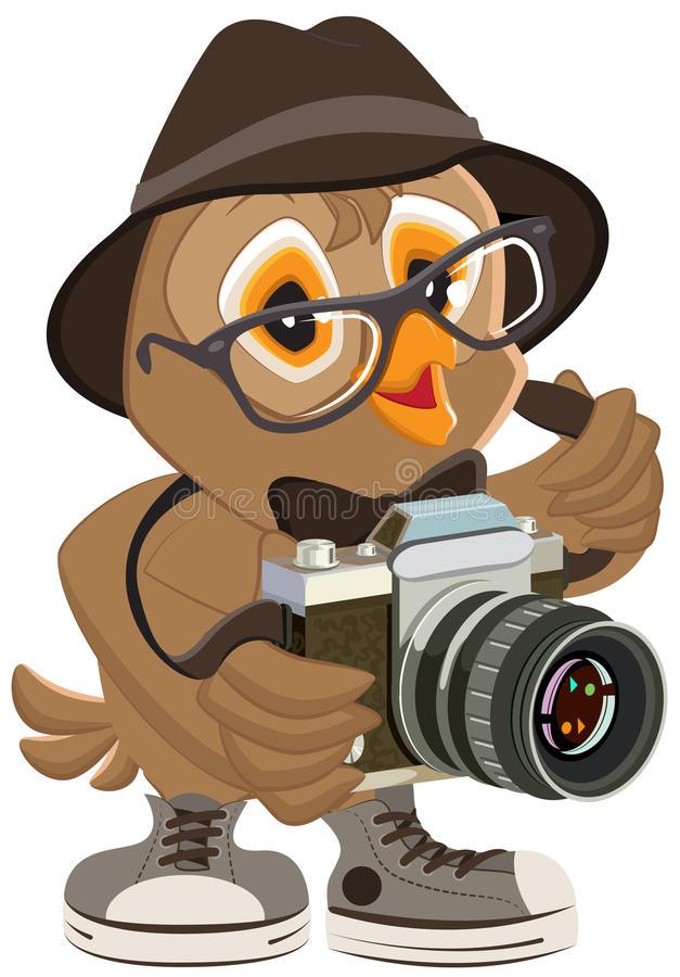 uil-hipster-hoed-en-zonnebril-die-retro-camera-houden-vogelfotograaf-54404057
